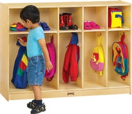 Toddler Coat & Backpack Storage