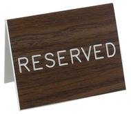 Reserved Table-Top Signs