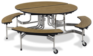 Virco Mobile Cafeteria Tables