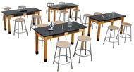 National Public Seating Science Tables and Stools