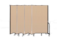 Screenflex Wall Mounted Room Dividers with Vinyl Surface
