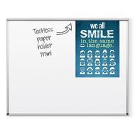 Tuf-Rite® Whiteboard 5 Year ABC Aluminum Frame + Tackless Paper Holder