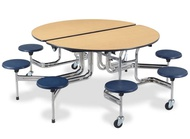 Mobile Cafeteria Tables with Stools