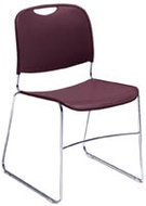 Plastic and Steel Stacking Chairs