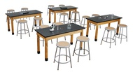 National Public Seating High Pressure Laminate Chem Res w/ Solid Apron