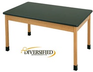Solid Phenolic Surface Tables w/ Solid Apron