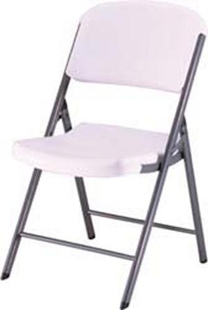Genial Lifetime Folding Chair   White Granite   32 Pack   2802