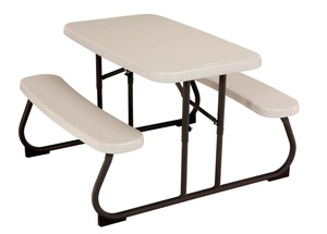 Childrens Picnic Table Lightweight Folding Lifetime Church Partner
