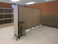 Screenflex Wall Mounted Room Dividers with Fabric Surface