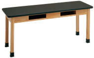 High Pressure Laminate Table w/ Book Storage