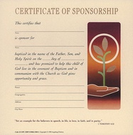 Sponsorship Certificates