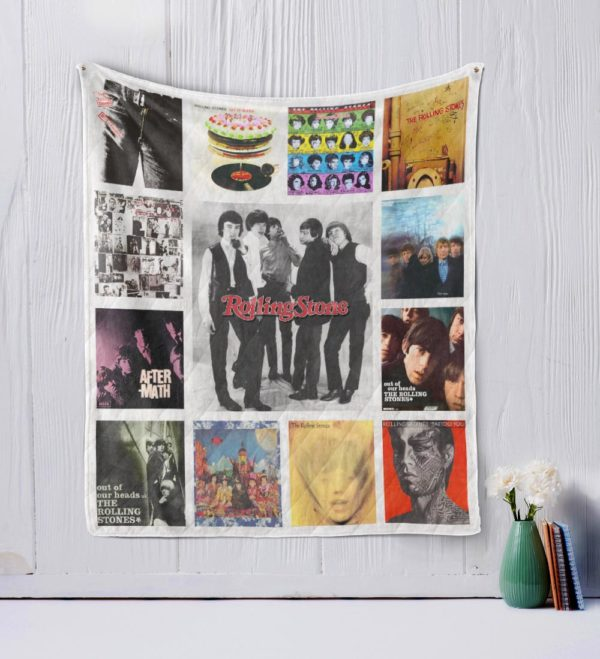 The Rolling Stones Quilt Blanket