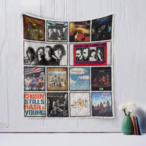 Crosby, Stills, Nash and Young Quilt Blanket
