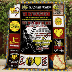 My Daughter – My Softball Princess Quilt