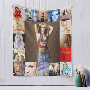 Britney Spears Style Two Quilt Blanket