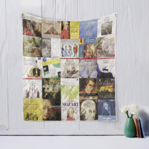 Wolfgang Amadeus Mozart Quilt Blanket