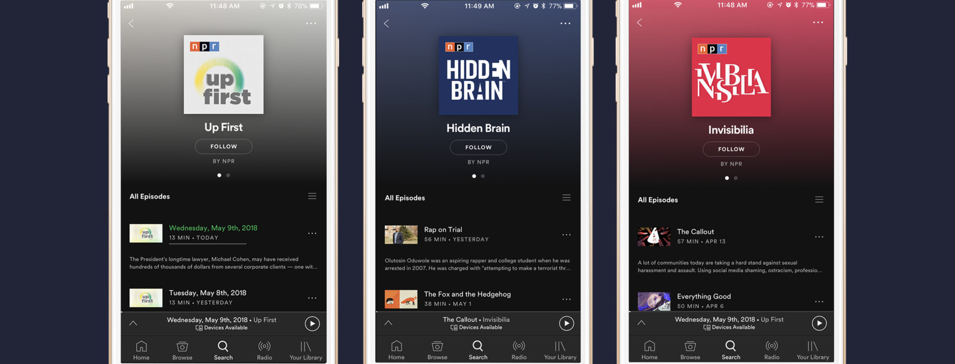 Spotify and NPR Team Up To Feed Your Podcast Addiction — Spotify 69b8c350325