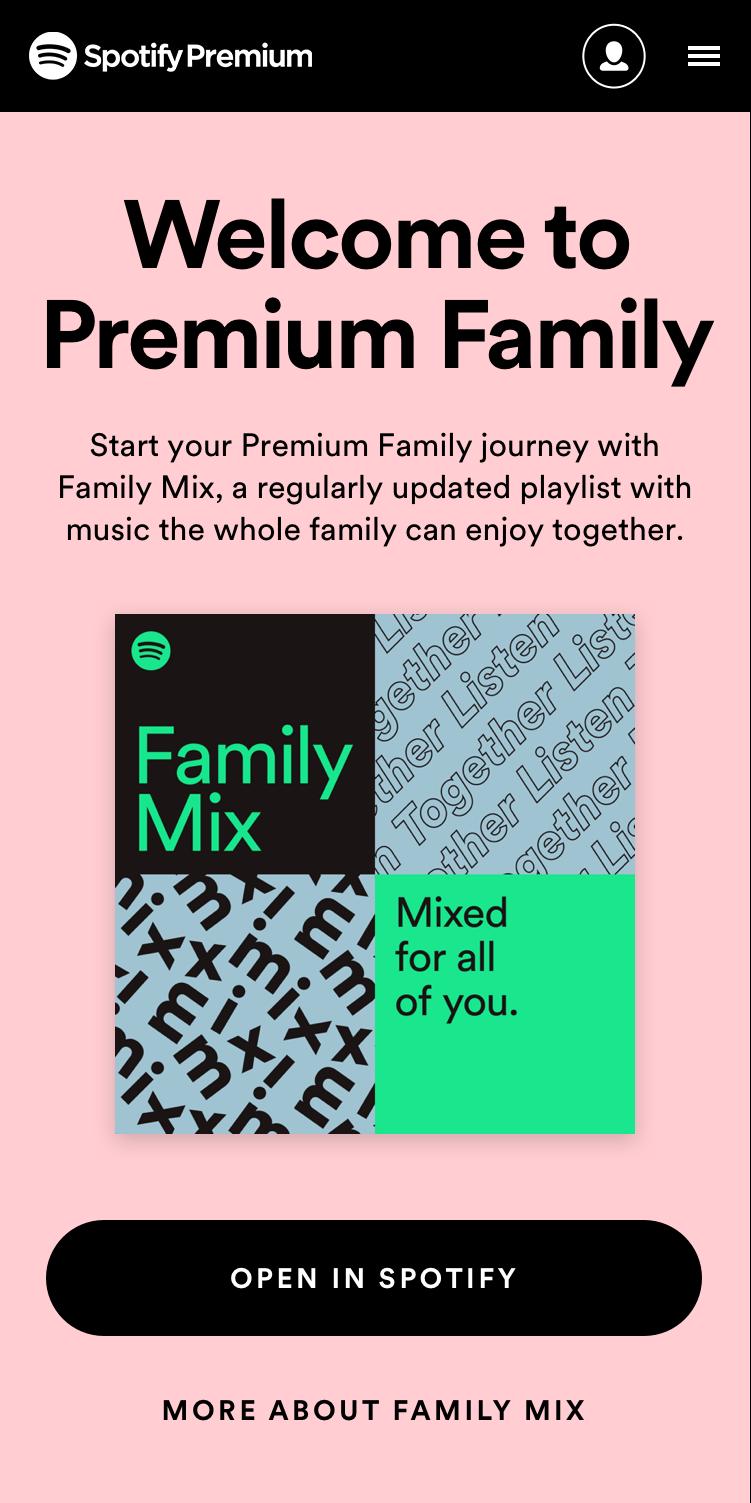 Premium Family Spotify