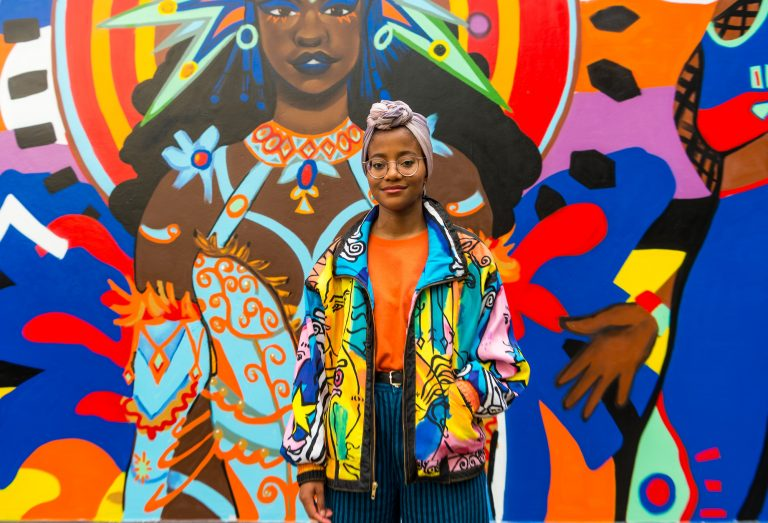 Spotify celebrates Notting Hill Carnival with a colourful mural by artist Bokiba