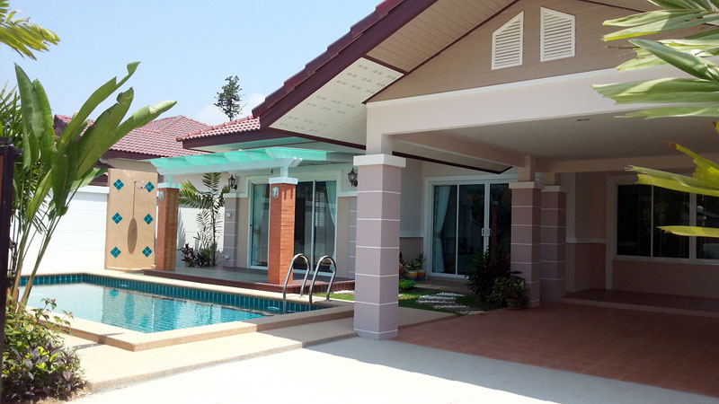 Three bedroom  house for Rent in East Jomtien - Huay Yai