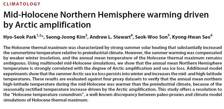Climat : une mauvaise nouvelle de 6000 ans