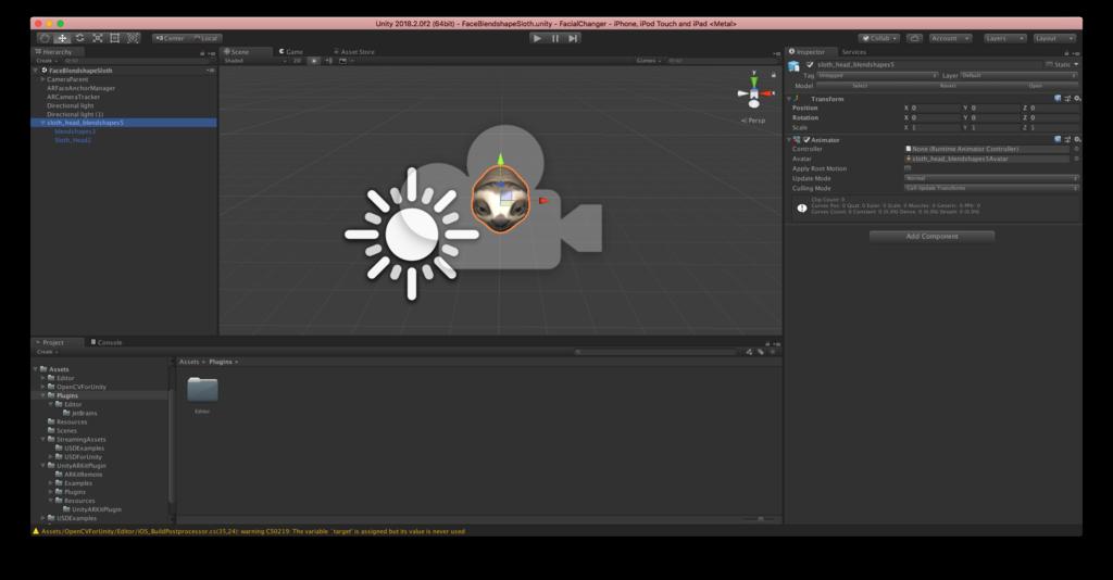 iOSのSwiftのネイティブで顔認識して3DのオブジェクトでFacial Animationする話