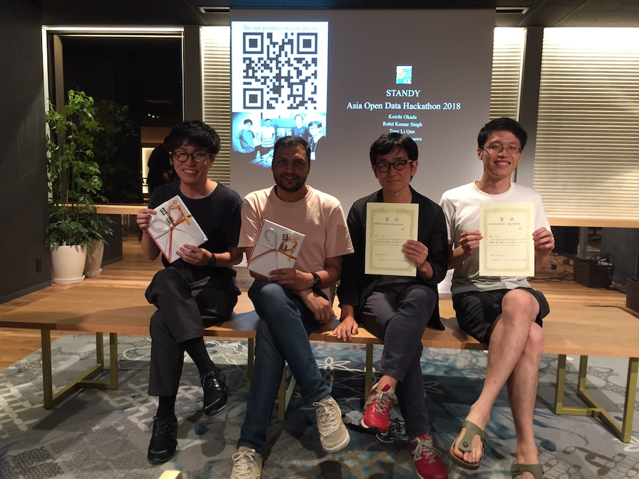 Asia Open Data Hackathon 2018で「最優秀賞」と「HERE International Award」を貰ったXR作品の話
