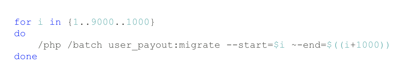 Migrating user payouts to Spanner