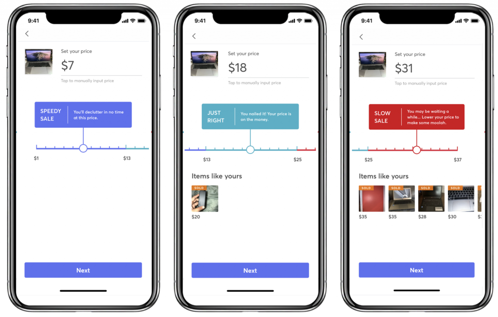 Price Suggestion feature in Mercari US application