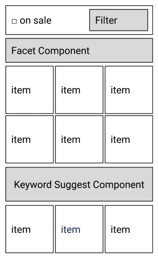 Componentization of the search UI