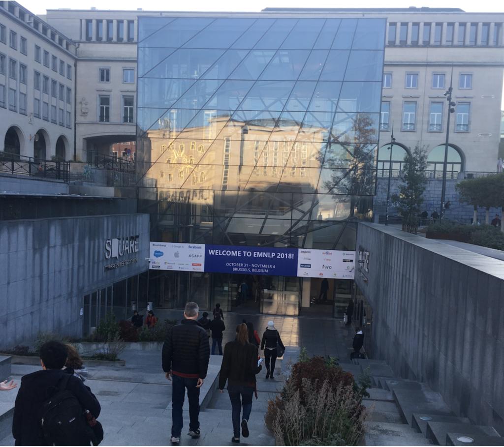 EMNLP 2018 at Square Centre, Brussels
