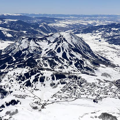 Aerial View of Crested Butte