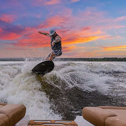 Wake Surfing at Lake Eufaula