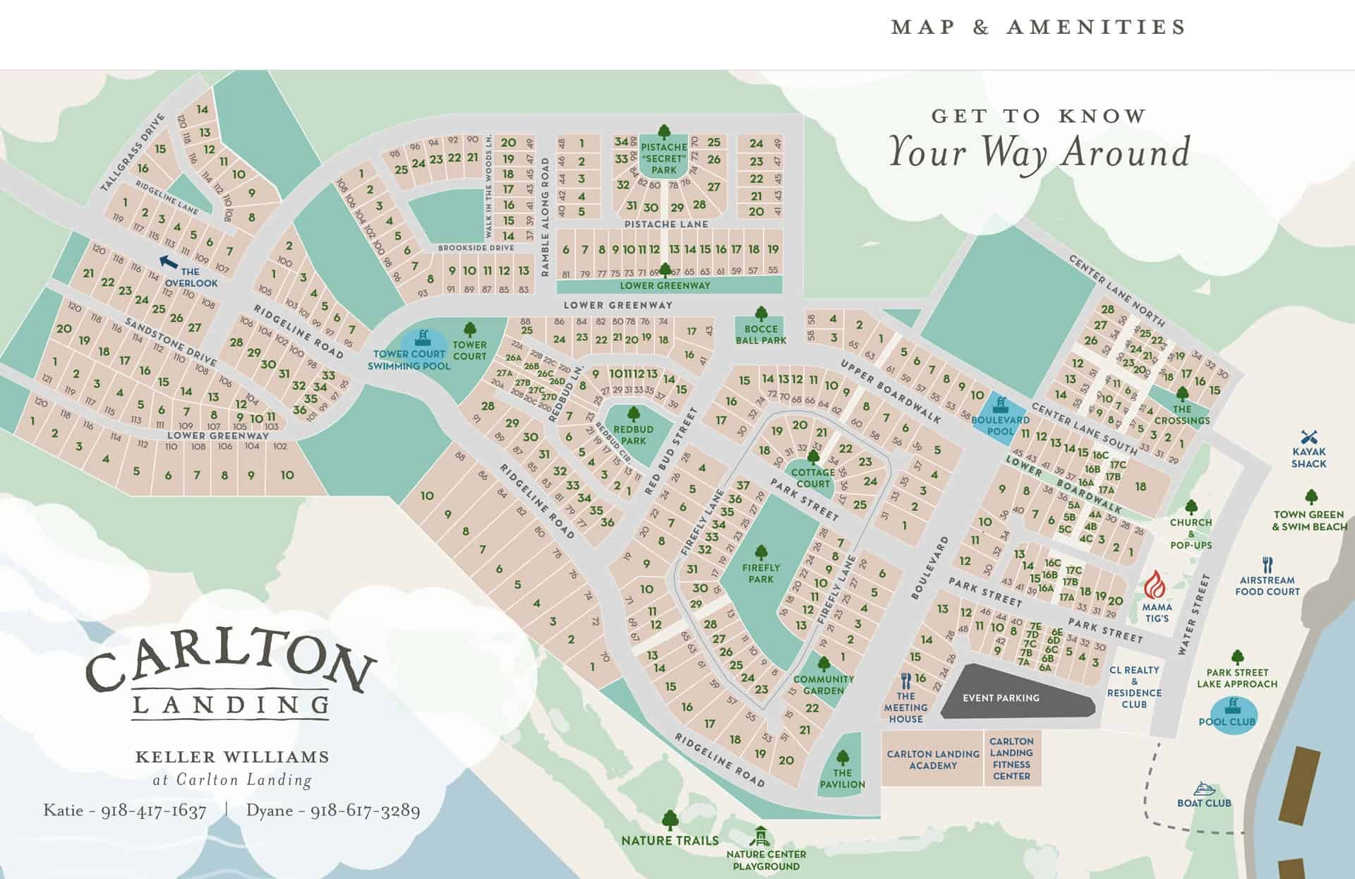 Carlton Landing Map of Amenities