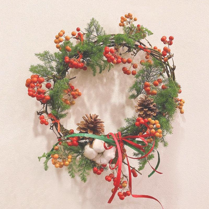 ドライフラワークリスマスリースイメージ画像