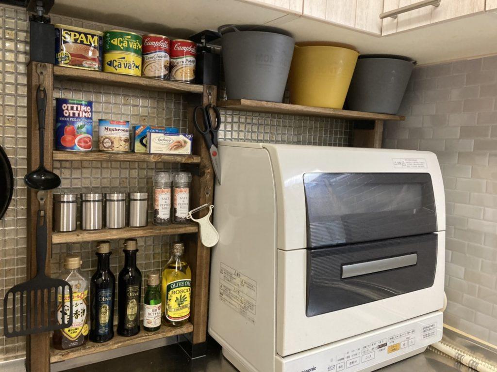 キッチン収納DIY