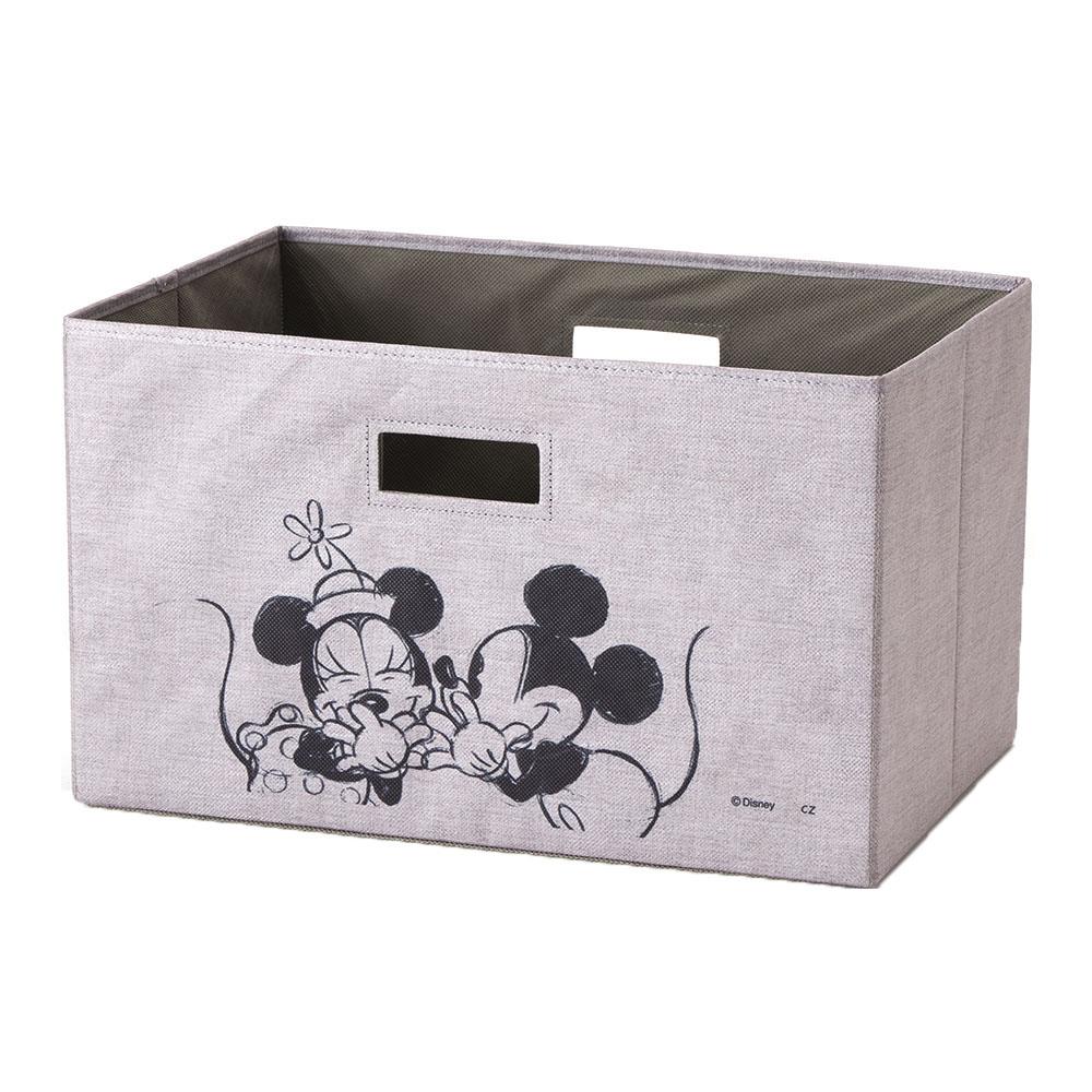 持ち運びしやすい折りたたみ収納ボックス ミッキー&ミニー