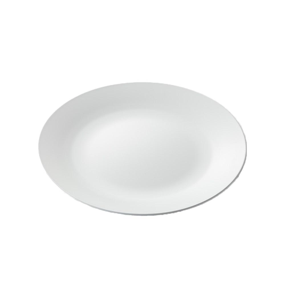 レンジで使えるHAJIKUDRY+ 丸皿21cm 白