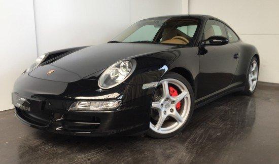Porsche 997 (911) 4S COUPE NOIR PACKCHRONO TOITOUVRANT CUIR BEIGE