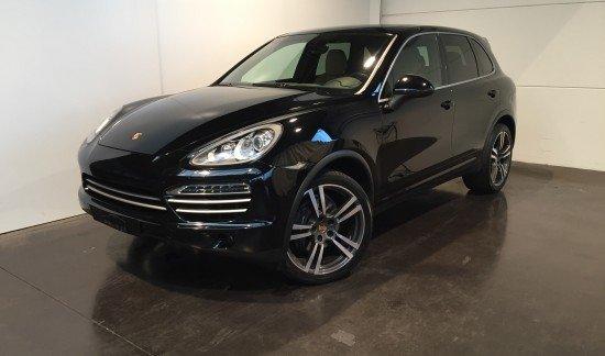 Porsche Cayenne DIESEL PLATINUM EDITION NOIR CUIR BEIGE 1E MAIN