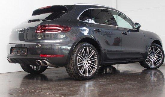 Porsche Macan S DIESEL 258PK VOLCANOGRIJS VOLLEDER BICOLOR ZADELBRUIN LUXORBEIGE PASM ENZ...