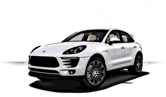 Porsche Macan BENZINE 252PK WIT XENON TREKHAAK LEDER BICOLOR ZWART BEIGE