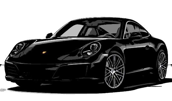 Porsche 911 CARRERA NOIR NOUVELLE VOITURE! XENON CAMERA 370CV 2018