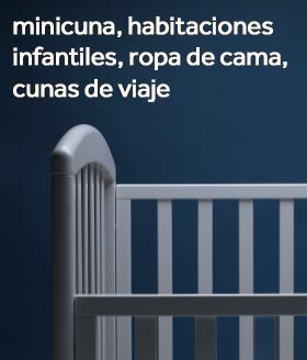 Minicunas, habitaciones infantiles, ropa de cama, baneras