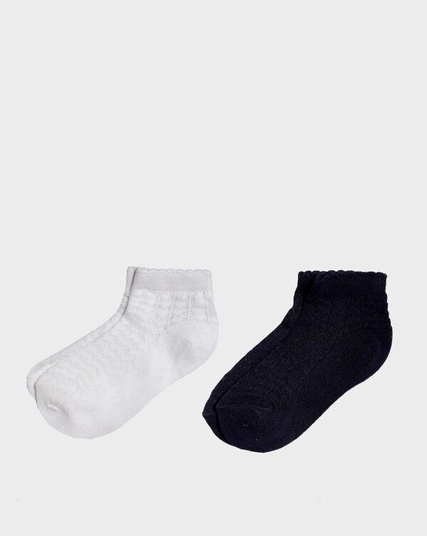 Paquete de 2 pares de calcetines cortos y calados de niña - Prenatal 2