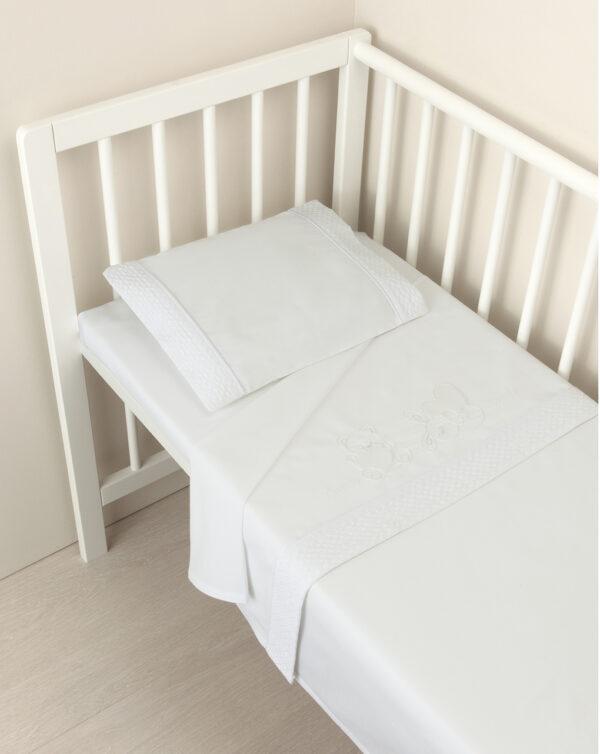 Conjunto sábanas 3 piezas minicuna/capazo blanco - Prénatal