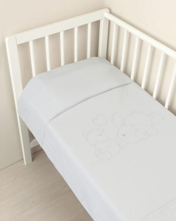 Manta tundosada blanca para minicuna/capazo - Prénatal