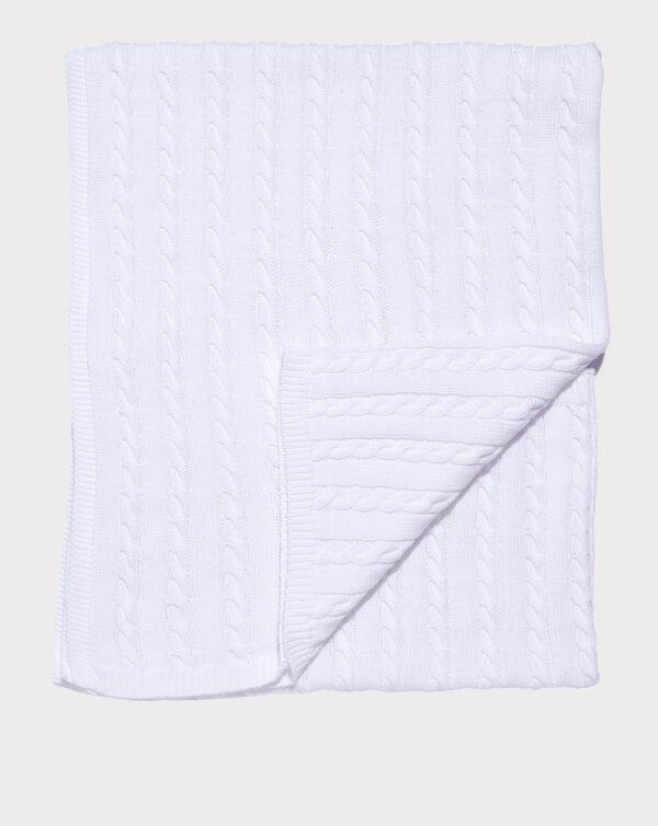 Chal algodón en tricot blanco - Prenatal 2