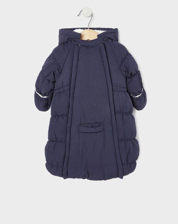 Saco de dormir de nieve unisex de nylon azul marino - Prénatal
