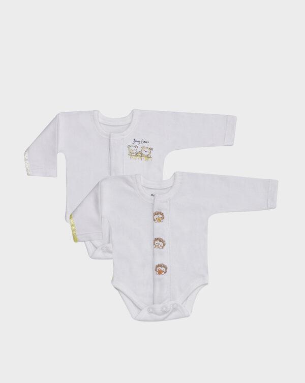 PACK X2 BODIES MANGA CORTA EXTRA-SMALL UNISEX - Prenatal 2